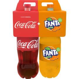 Refrigerante Coca Cola 2L + Fanta laranja 2L