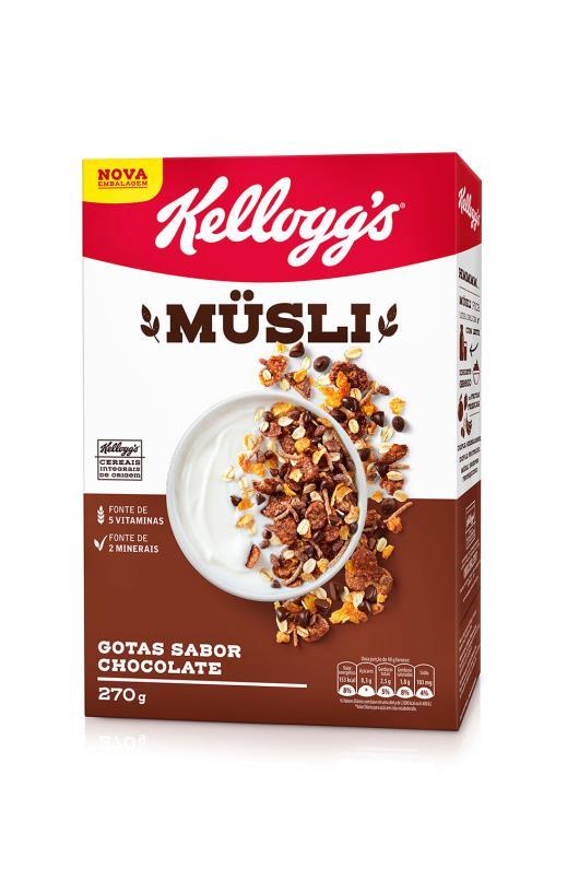 Cereal Kellogg's Musli Chocolate 270g - Imagem em destaque