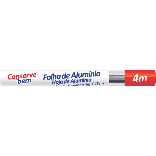 Folha alumínio 45cmx4m ConserveBem unidade - Imagem em destaque