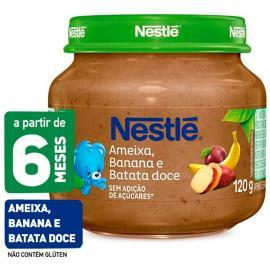 Papinha ameixa, banana e batata doce Nestlé 120g