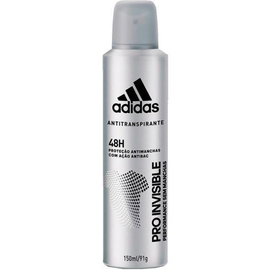 Desodorante aerossol pro invisible masculino Adidas 150ml - Imagem em destaque