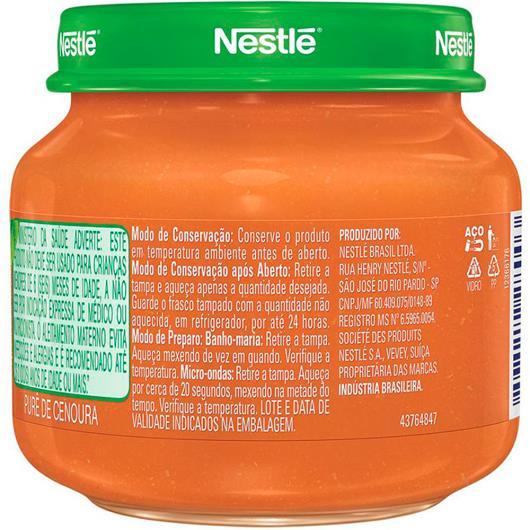 Papinha de cenoura Nestlé 115g - Imagem em destaque