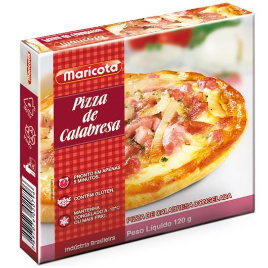 Pizza de calabresa Maricota 120g - Imagem em destaque