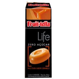 Bala Dura Caramelo Life Zero Açúcar Fruit-Tella 18,9g