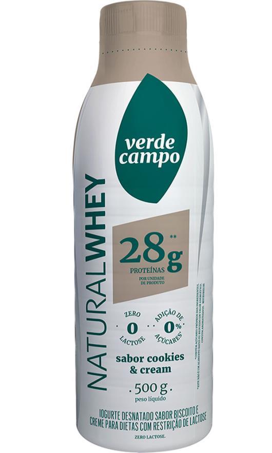 Iogurte cookie cream Natura Whey Verde Campo 500g - Imagem em destaque