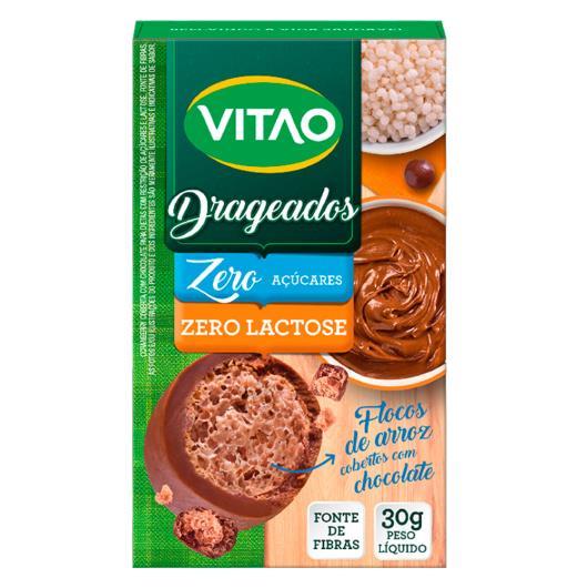 Flocos de Arroz zero lactose coberto com chocolate Vitao 30g - Imagem em destaque