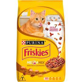 Alimento para Gatos adultos e castrados Megamix Friskies 1kg