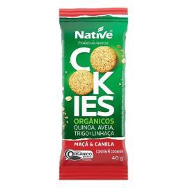 Cookie orgânico maçã e canela Native 40g