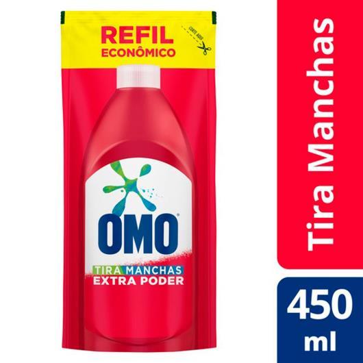 Tira Manchas Omo Gel Extra Poder refil 450ml - Imagem em destaque