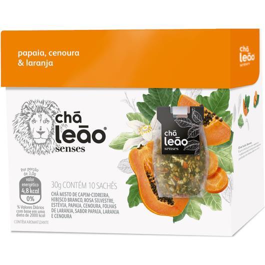 Chá senses mamão papaia, cenoura e laranja Leão 25g - Imagem em destaque