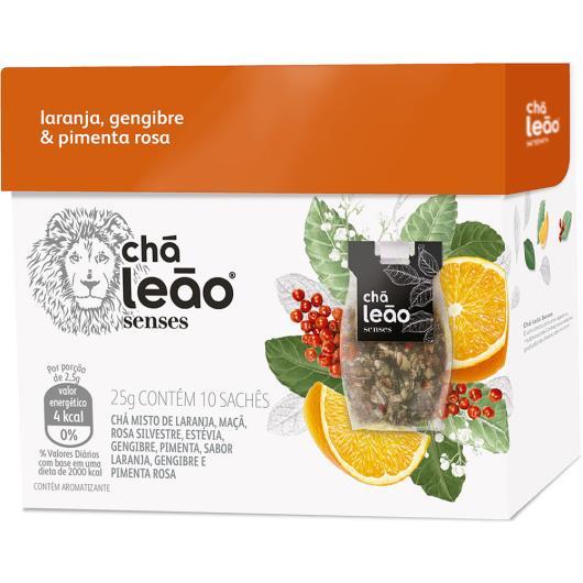 Chá senses laranja gengibre e pimenta rosa Leão 25g - Imagem em destaque