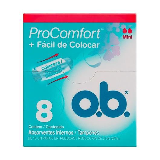 Absorvente OB Interno ProComfort Mini 8un - Imagem em destaque