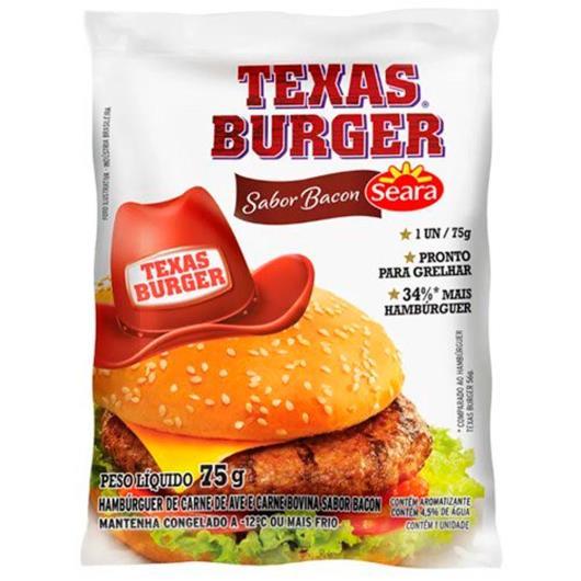 Hambúrguer Seara Texas Burguer Bacon 75g - Imagem em destaque