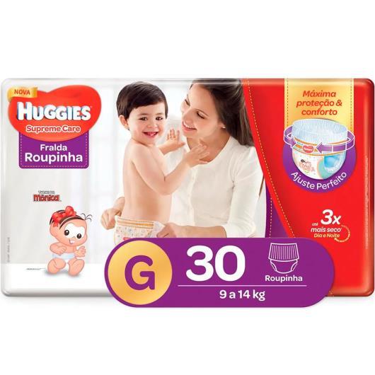 Fralda Huggies Roupinha Supreme Care G 30 Unidades - Imagem em destaque