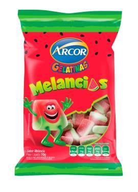 Bala gelatinas melancias Arcor 70g