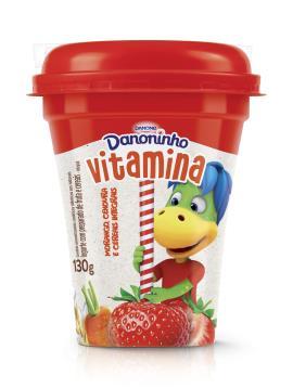 Iogurte líquido morango, cenoura e cereais Danoninho 130g