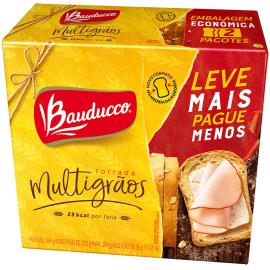 Torrada multigrãos leve + pague - Bauducco 284g