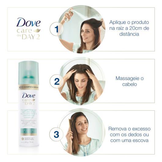 Shampoo Care On Day2 a seco Dove 75ml - Imagem em destaque