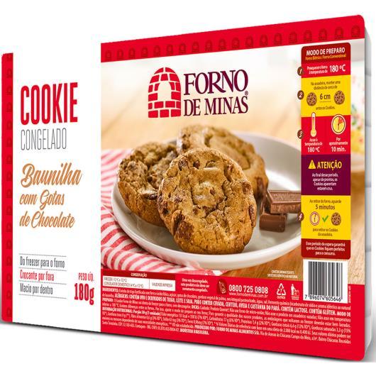 Cookie Forno de Minas Baunilha Gotas de Chocolate Congelado 180g - Imagem em destaque