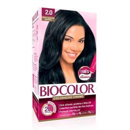 Coloração creme 2.0 preto azulado incrível Biocolor 1 unidade
