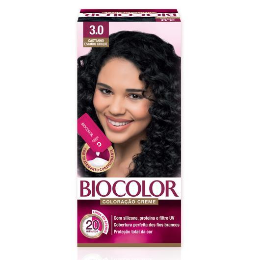 Tinta de Cabelo Biocolor Mini Kit Castanho Escuro Chic 3.0 - Imagem em destaque