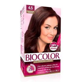 Coloração creme 4.5 acaju escuro poderoso Biocolor 1 unidade