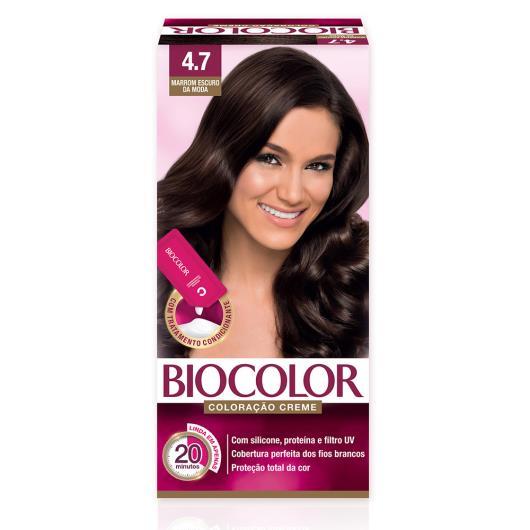 Tinta de Cabelo Biocolor Mini Kit Marrom Escuro da Moda 4.7 - Imagem em destaque