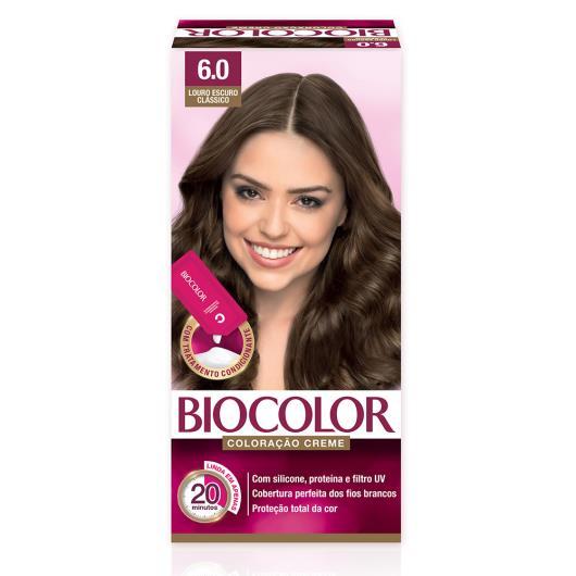 Tinta de Cabelo Biocolor Mini Kit Louro Escuro Clássico 6.0 - Imagem em destaque