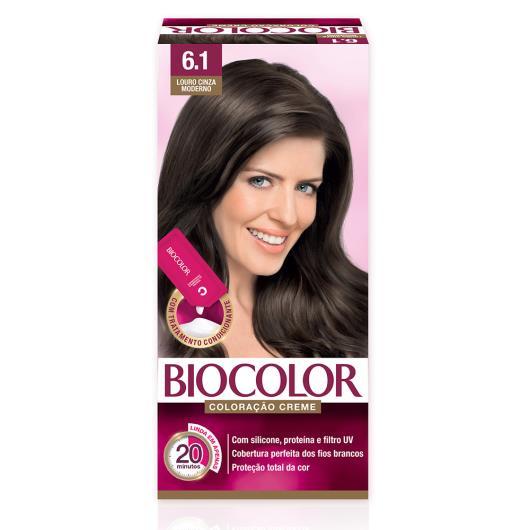 Tinta de Cabelo Biocolor Mini Kit Louro Cinza Escuro Moderno 6.1 - Imagem em destaque