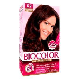 Coloração creme 6.7 marrom natural irresistível Biocolor 1 unidade