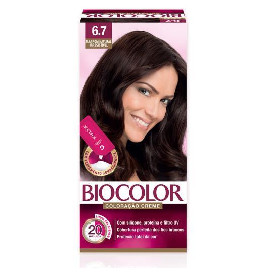 Tinta de Cabelo Biocolor Mini Kit Marrom Natural Irresistível 6.7 - Imagem em destaque