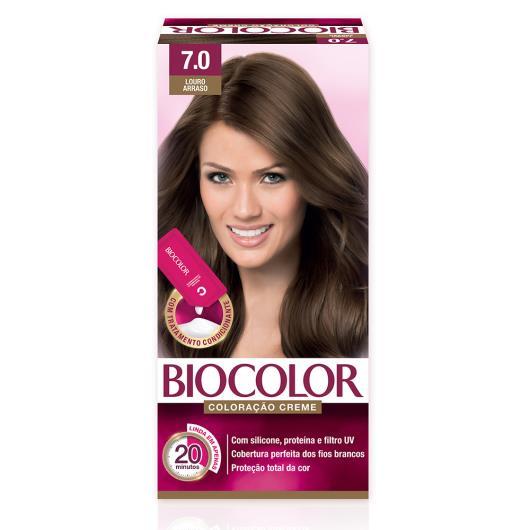 Tinta de Cabelo Biocolor Mini Kit Louro Arraso 7.0 - Imagem em destaque