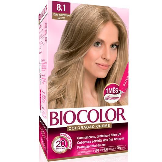 Tinta de Cabelo Biocolor Mini Kit Louro Acinzentado Radiante 8.1 - Imagem em destaque
