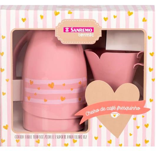 Bule térmico + Suporte Filtro rosa Sanremo unidade - Imagem em destaque