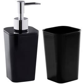 Acessório para Banheiro Astra Mármore Preto 2 unids.