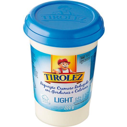 Requeijão Tirolez Cremoso Light 200g - Imagem em destaque