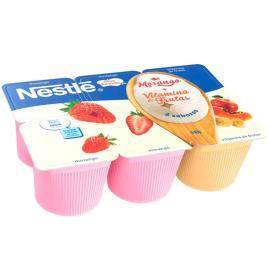 Iogurte de morango e vitamina de frutas Nestlé 540g