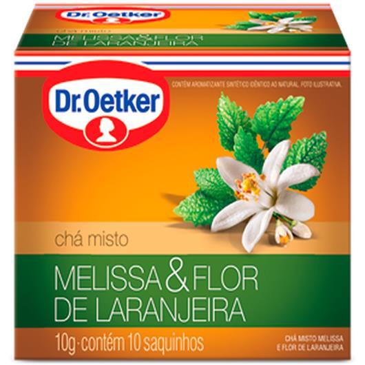 Chá melissa e flor de laranjeira Oetker sachês 10g - Imagem em destaque