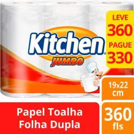 Papel Toalha Kitchen Jumbo Leve 360 Pague 330 folhas