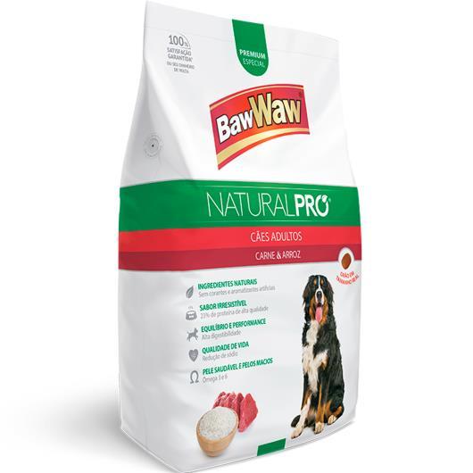 Alimento para Cães adulto carne e arroz Natural Pró Baw Waw 1kg - Imagem em destaque