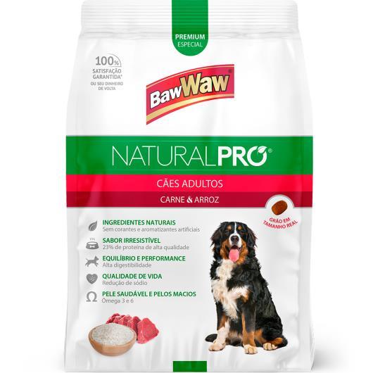 Alimento para Cães adultos carne e arroz Natural Pró Baw Waw 6kg - Imagem em destaque