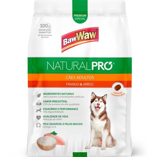 Alimento para Cães adulto frango e arroz Natural Pró Baw Waw 6kg - Imagem em destaque
