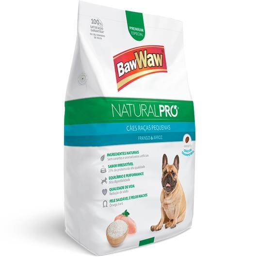 Alimento para Cães raças pequenas frango e arroz Natural Pró Baw Waw 1kg - Imagem em destaque