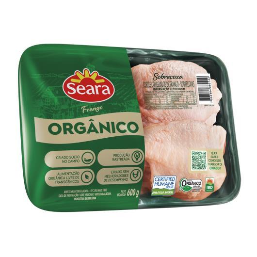 Cortes de Frango sobrecoxa orgânico bandeja Seara 600g - Imagem em destaque
