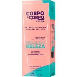 Loção hidratante dermo BB cream iluminador Corpo a Corpo 150ml