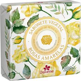 Sabonete barra vegetal rosas amarelas Davene 200g