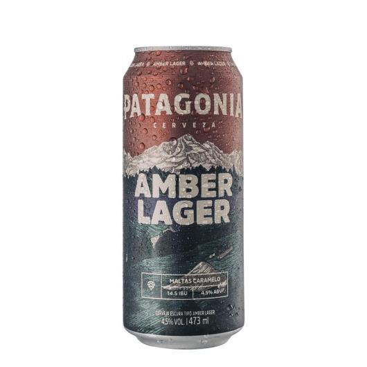 Cerveja amber lager Patagonia Lata 473ml - Imagem em destaque