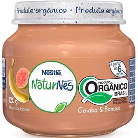 Papinha goiaba e banana orgânica NaturNes Nestlé 120g
