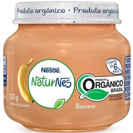 Papinha banana orgânica NaturNes Nestlé 120g