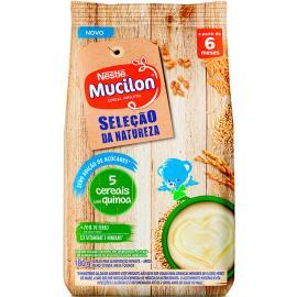 Mucilon zero açúcar 5 cereais e quinoa 180g